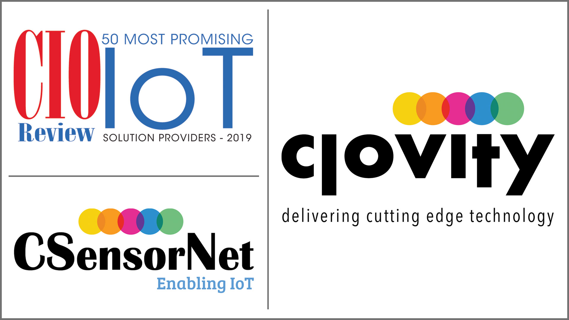 Clovity Tops CIOReview's IoT Solution Provider List Again for 2019